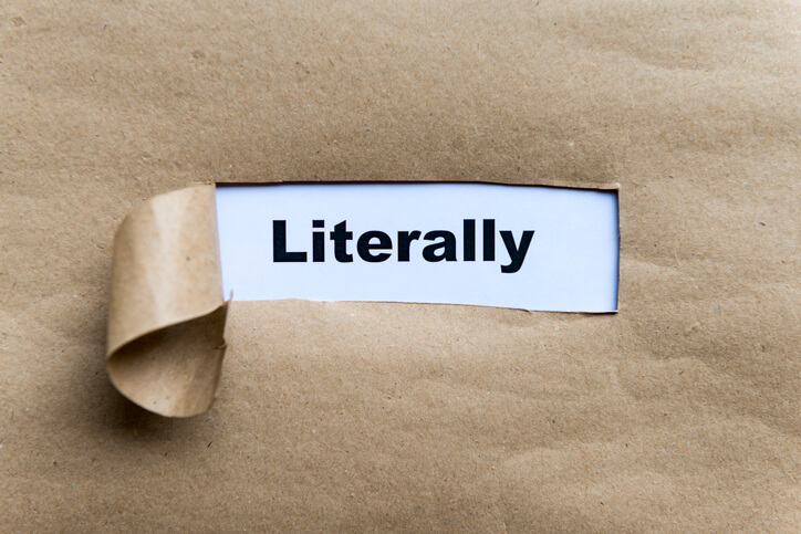 How to use the word literally